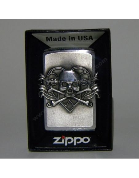 ZIppo Skull with Heart