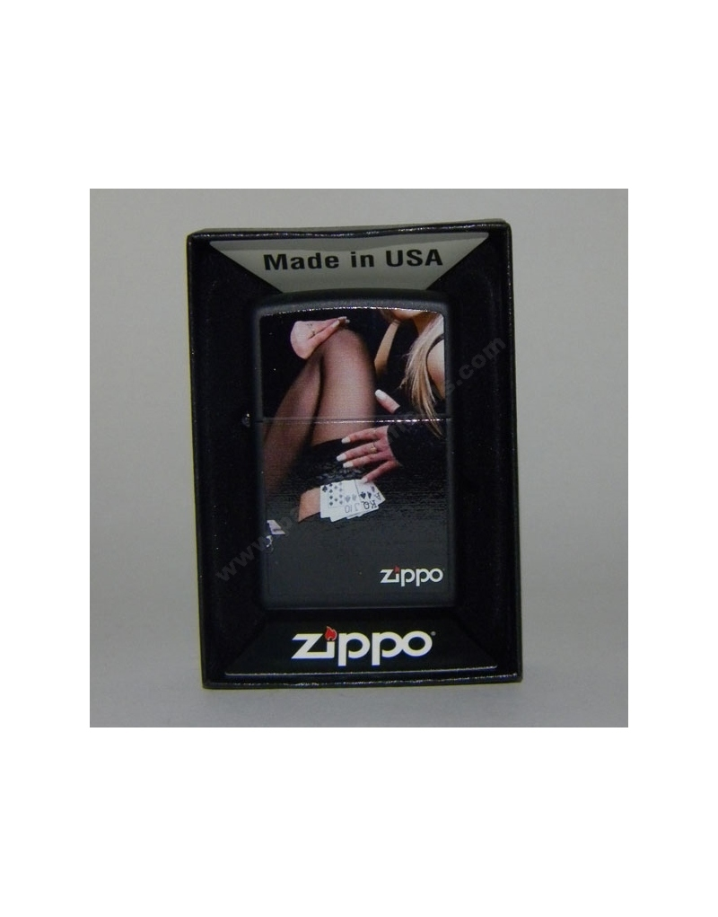 Zippo woman with cards