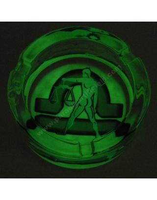 Cendrier en verre phosphorescent signe astrologique
