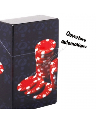 Boîte cigarettes jeton de poker