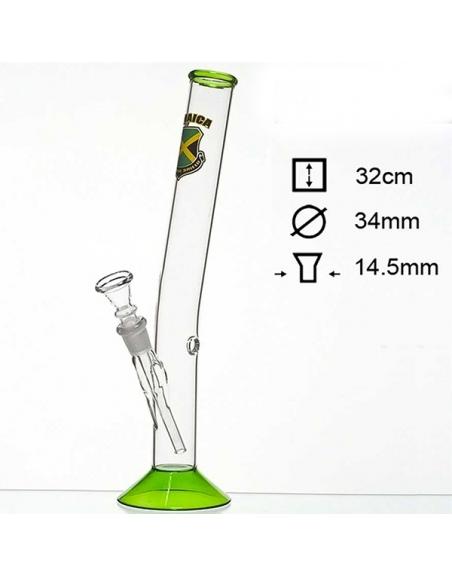 Bang verre Jamaïca 32cm
