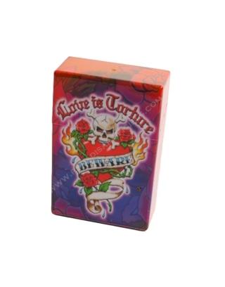 Boîte cigarettes tatoo rose