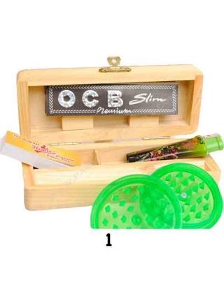 Boîte en bois taille S équipé