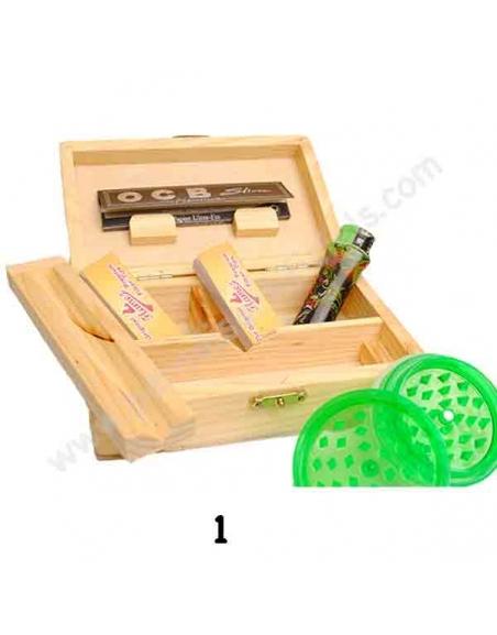 Boîte en bois taille M équipé