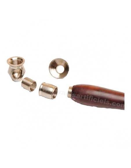 Pipe bois 9cm foyer métal