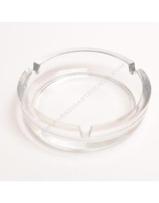 Cendrier en verre transparent