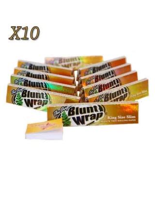 Feuille à rouler Slim Blunt Wrap par 10