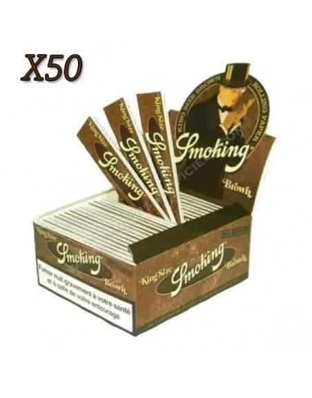 Feuille Smoking Brown slim par boite