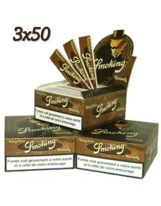 Feuille Smoking Brown slim par 3 boites