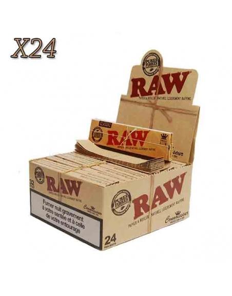 Feuille à rouler slim Raw 2 en 1 par boite