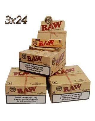 Feuille Raw 2 en 1 slim par 3 boites