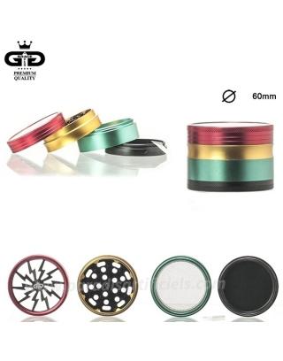 Grinder Alu tamis Rasta Grace Glass 60mm
