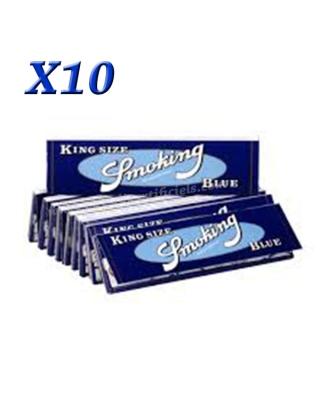Feuille Smoking blue slim par 10